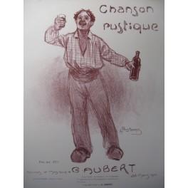 AUBERT Gaston Chanson Rustique Pousthomis Chant Piano 1910