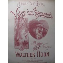 HORN Walther Valse des Souvenirs Piano