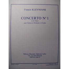 KLEYNJANS Francis Concerto n° 1 Guitare 1986