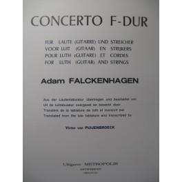 FALCKENHAGEN Adam Concerto F dur Piano Guitare 1973