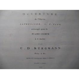 PAËR Ferdinand Sophonisbe Ouverture Piano 4 mains ca1820