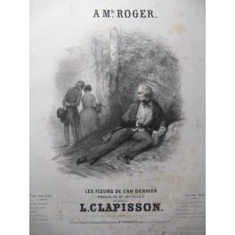 CLAPISSON Louis Les Fleurs de l'An dernier Chant Piano ca1850