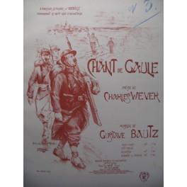 BAUTZ Gustave Chant de Gaule Chant Piano