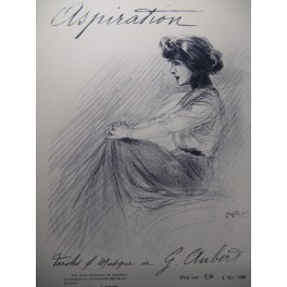 AUBERT Gaston Aspiration Pousthomis Chant Piano 1909