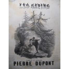 DUPONT Pierre Les Sapins Chant Piano ca1850