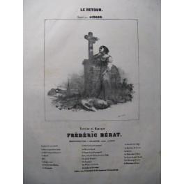 BÉRAT Frédéric Le Retour Chant Piano ca1850