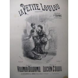 COLLIN Lucien La Petite Loulou Chant Piano XIXe
