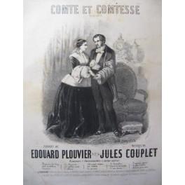 COUPLET Jules Comte et Comtesse Chant Piano XIXe