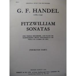 HAENDEL G. F. Fitzwilliam Sonatas Piano Flute ou Violoncelle