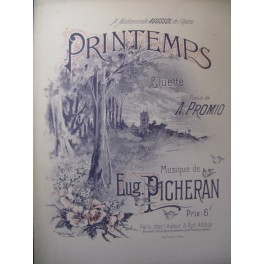 PICHERAN Eug. Printemps Chant Piano