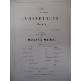MENDELSSOHN Ouvertures Piano 4 mains ca1850