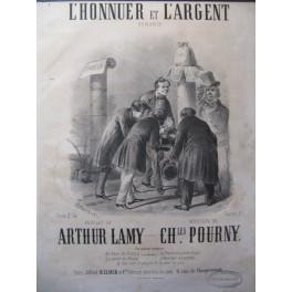 POURNY Charles L'Honneur et l'Argent Chant Piano ca1860