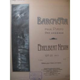 NEVIN Ethelbert Barchetta Piano