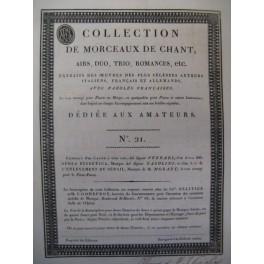 Collection de Morceaux de Chant n° 21 Chant Harpe ou Piano ca1805