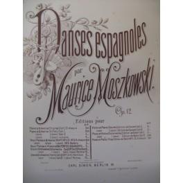 MOSZKOWSKI Maurice Danse Espagnole n° 1 2 Pianos 4 mains XIXe
