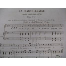 ROUGET DE L'ISLE La Marseillaise Chant Piano ca1825
