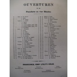 BEETHOVEN Leonore Ouverture 1806 Piano 4 mains XIXe