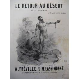 LASSIMONNE M. Le Retour au Désert Chant Piano XIXe