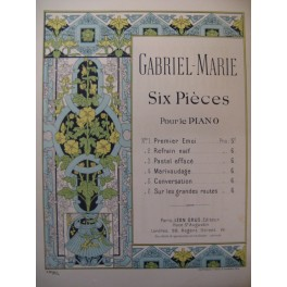 GABRIEL MARIE Conversation Piano XIXe