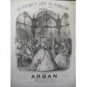ARBAN Le Premier Jour de Bonheur Auber Piano ca1870