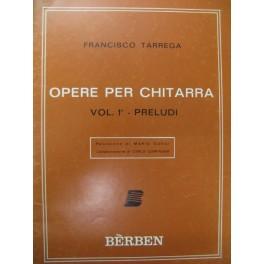 TARREGA Francisco Préludes Vol. 1 Guitare