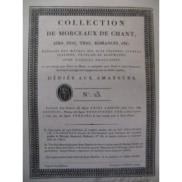 Collection de Morceaux de Chant n° 23 Chant Harpe ou Piano ca1805