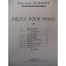 SCHMITT Florent Chanson à Bercer Piano