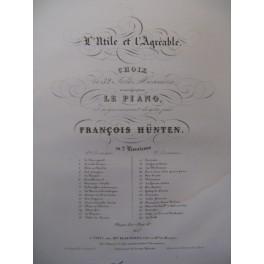 HÜNTEN François L'Utile et l'Agréable n°1 Piano XIXe