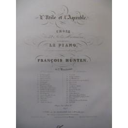 HÜNTEN François L'Utile et l'Agréable n°2 Piano XIXe
