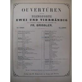REISSIGER C. G. Die Felsenmühle Ouverture Piano 4 mains XIXe