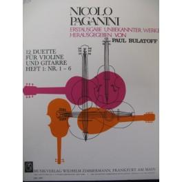 PAGANINI Nicolo 6 Duos Violon Guitare