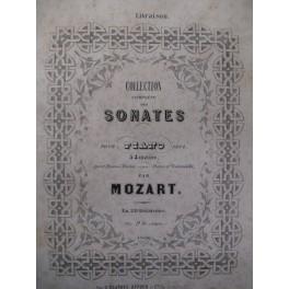 MOZART W. A. 2 Sonates Piano 4 mains ca1855
