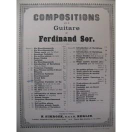 SOR Ferdinand Sonate op. 15 Guitare