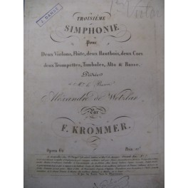 KROMMER Franz 3e Symphonie Orchestre ca1810