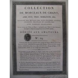 Collection de Morceaux de Chant n° 24 Chant Harpe ou Piano ca1805