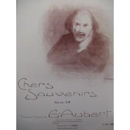 AUBERT Gaston Chers Souvenirs Pousthomis Chant Piano 1908