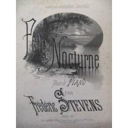STEVENS Frédéric Petit Nocturne Piano ca1880