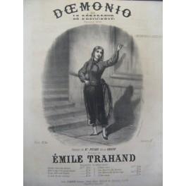 TRAHAND Émile Doemonio ou Le débardeur Chant Piano XIXe
