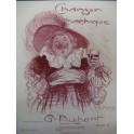 AUBERT Gaston Chanson Bachique Pousthomis Chant Piano 1909