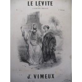 VIMEUX J. Le Lévite Chant Piano 1844