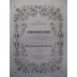 MENDELSSOHN Gondoline Piano ca1850