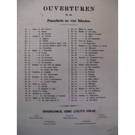 WEBER Preciosa Ouverture Piano 4 mains XIXe
