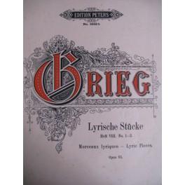 Grieg E. Lyrische Stücke H. VIII N° 1-3