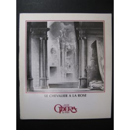 STRAUSS Richard Le Chevalier à la Rose Programme Opera Paris 1984