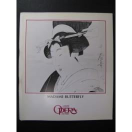 PUCCINI Giacomo Madame Butterfly Programme Opera Paris 1983