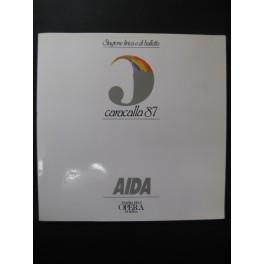 VERDI Giuseppe Aida Programme Opera Roma 1987