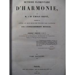 CHEVÉ Emile Méthode élémentaire d'Harmonie T2 1846