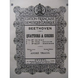 BEETHOVEN Quatuors à cordes 12 à 17 Alto