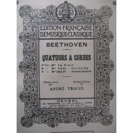 BEETHOVEN Quatuors à cordes 1 à 6 Alto 1928
