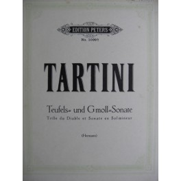 TARTINI Giuseppe Trille du Diable et Sonate en Sol Maj